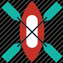 adventure, boat, canoe, kayak, kayaking, raft, sports icon
