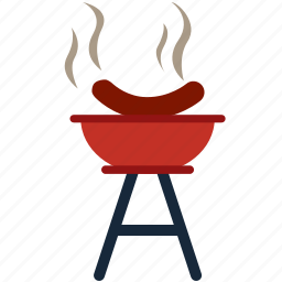 barbecue, bbq, fire, food, grill, hotdog, sausage icon