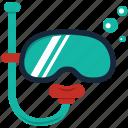 diver, diving, equipments, mask, scuba, snorkel, snorkeling