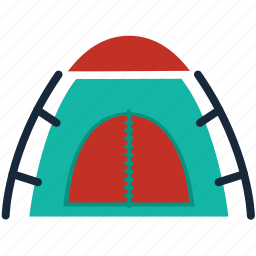 camping, equipment, outdoors, shelter, survival, tent icon