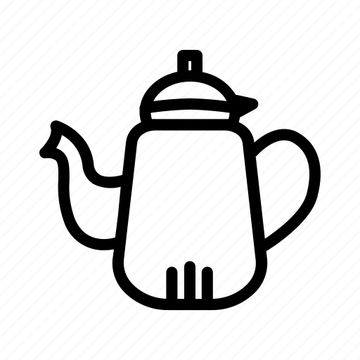 camping, coffee, tea, teapot icon