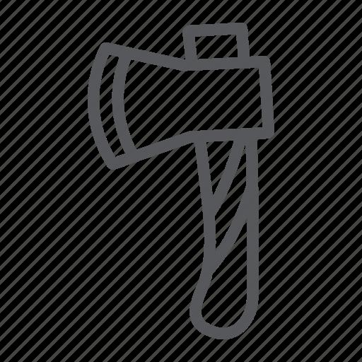 ax, axe, blade, cut, tool, wood icon