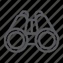 binoculars, instrument, optical, surveillance, zoom icon