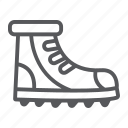 boot, footwear, hiking, shoe icon