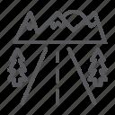 asphalt, highway, road, roadside, travel icon