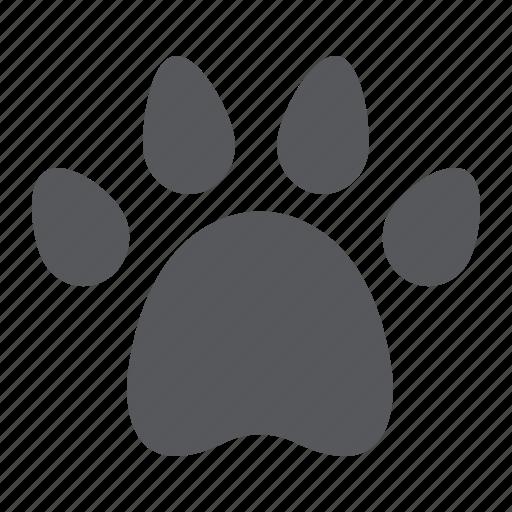 animal, dog, footprint, paw, pet, print, trace icon