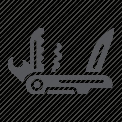 camping, knife, multi, multifunction, pocket, swiss, tool icon