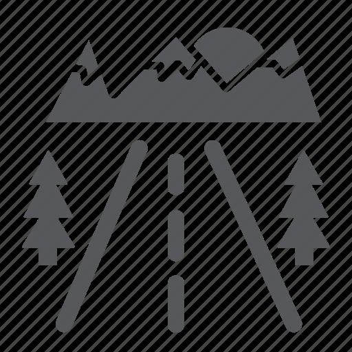 Asphalt, highway, road, roadside, travel icon - Download on Iconfinder
