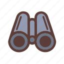 adventure, binocular, camping, travel icon