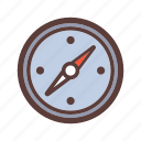 adventure, camping, compass, travel icon