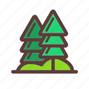 camping, nature, pine tree, tree icon