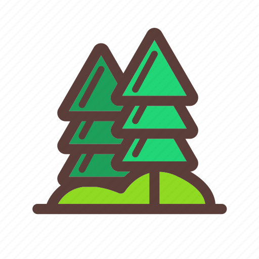 camping, nature, pine tree, tree icon