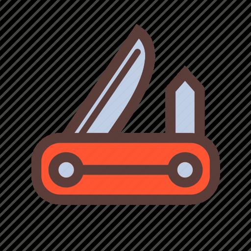 camping, knife, pocket icon