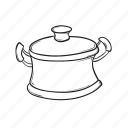 boiling, cooking, kitchen, pot icon