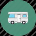 explore, trip, camping, camp, caravan, camper, travel icon