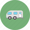 nature, vacation, forest, camping, caravan, camper, travel icon