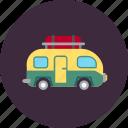 vehicle, vacation, family, camping, caravan, camper, travel icon