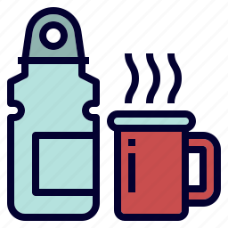 bottle, coffee, cup, hot, water icon