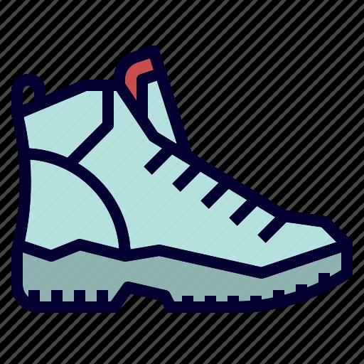 camping, hiking, shoe, trekking icon