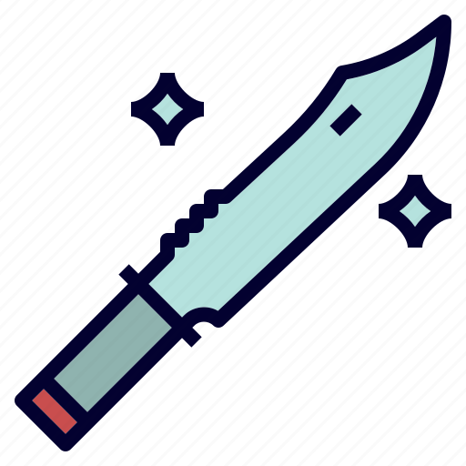 camping, knife, outdoor, tool icon