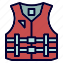 camping, life, lifevest, saver, vest icon