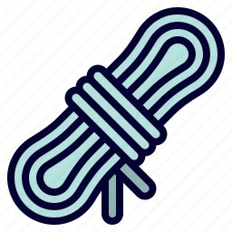 camping, equipment, gear, rope, tool icon