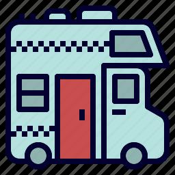 car, house, recreational, rv, truck, vehicle icon