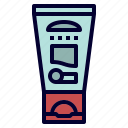 cream, outdoor, protective, sun, sunscreen icon