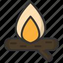 burn, camp, camping, fire, light, log