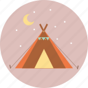 camping, tourism, travel, trip, wigwam icon