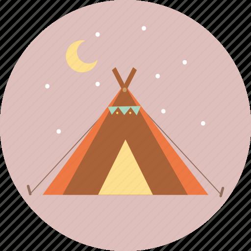 camping, tourism, travel, trip, wigwam icon