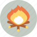 camping, fire, tourism, travel icon