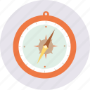 camping, compass, navigation, travel, vacation icon