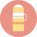camping, thermos, travel icon