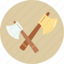 axe, camping, tourism, travel, trip icon