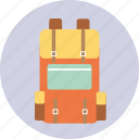 backpack, bag, camping, tourism, travel, trip icon