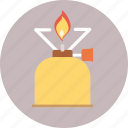 burner, camping, tourism, travel, trip icon