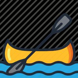 camping, eco, kayak, nature, summer, trip, vacation icon