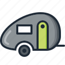 camping, caravan, eco, nature, summer, trip, vacation icon