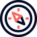 camp, compass, line, minimalist icon