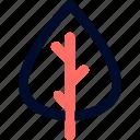 camp, leaf, line, minimalist, plant icon