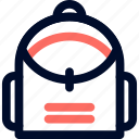 bag, bagpack, camp, line, minimalist icon