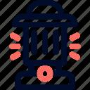 camp, lights, line, minimalist, terrain light icon