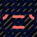 binocular, camp, line, minimalist icon