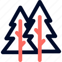 camp, fresh, line, minimalist, trees icon