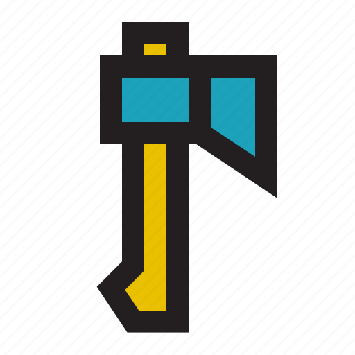 axe, camping, forest, outdoor, tent, travel, wood icon