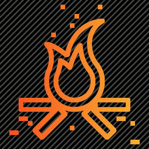 Bonfire, burn, fire icon - Download on Iconfinder