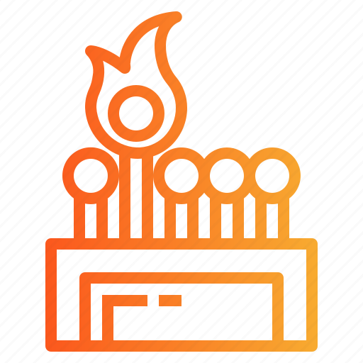 fire, match, matches icon
