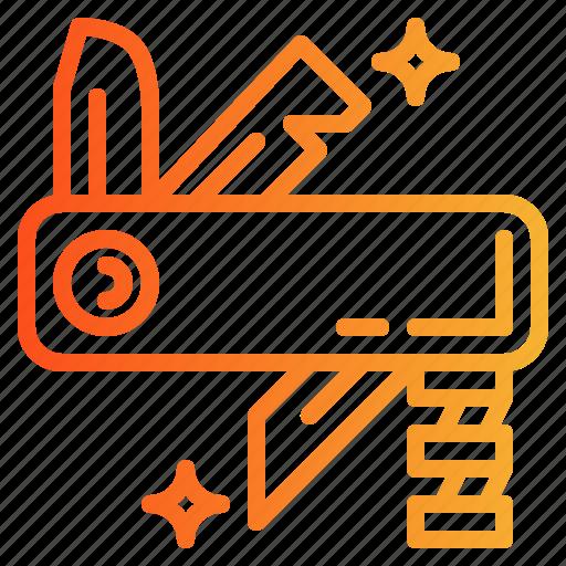 army, blade, equipment, knife, swiss icon