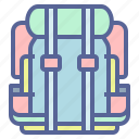 backpack, camping, hiking, travel icon
